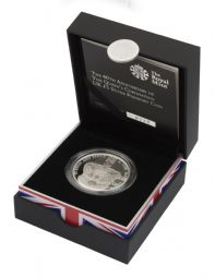 2013 Silver Proof Piedfort £5 Coin Queen's Coronation for sale